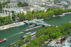 Boat tour on Seine Stock Photography
