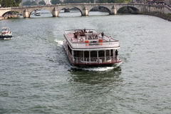 Boat tour on Seine river in Paris, Stock Image