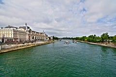 Boat tour on Seine Stock Photo