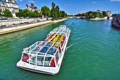Boat tour on Seine Royalty Free Stock Photos