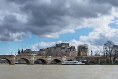 Boat tour on Seine river in Paris Royalty Free Stock Photo