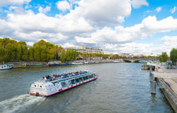 Boat tour on seine Stock Images