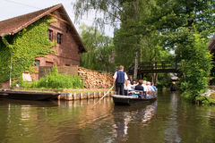 Boat tour in the Spreewald Royalty Free Stock Images
