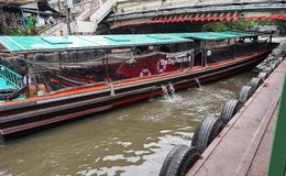 Boat for tourism on Saen Saeb canal ,Bangkok Stock Image
