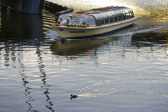 Boat Tours Amsterdam Royalty Free Stock Photo