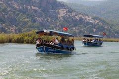 Boat tours in Dalyan Stock Image