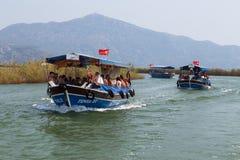 Boat tours in Dalyan Stock Photo