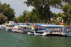 Boat tours in Dalyan Stock Photography