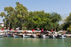 Boat tours in Dalyan Stock Photos