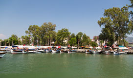 Boat tours in Dalyan Royalty Free Stock Images
