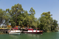 Boat tours in Dalyan Royalty Free Stock Photo