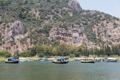 Boat tours in Dalyan Royalty Free Stock Photos