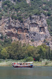 Boat tours in Dalyan River Stock Photo