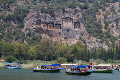 Boat tours in Dalyan River Royalty Free Stock Photo