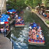 Boat tours of the riverwalk royalty free stock photo