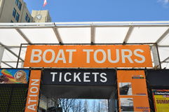 Boat Tours sign in Toronto Royalty Free Stock Photos