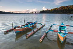 Boat. Traditional fishing boats on a beach in Sanur on Bali. Indonesia Royalty Free Stock Photos