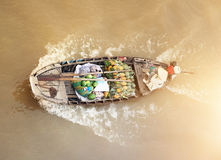 Boat on traditional floating market Royalty Free Stock Photography