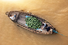 Boat on traditional floating market Royalty Free Stock Images