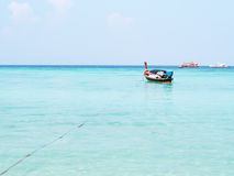 Boat. Traditional local thai long tail boat in beautiful blue sea in summer. Lipe Island, Thailand Stock Photography