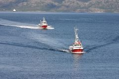 Boat Traffic Stock Photo