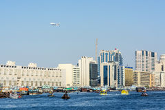 Boat traffic Dubai Creek Stock Photo