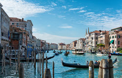 Boat traffic on the Grand Canal Venice Stock Photography