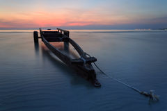 The boat trailer at Kon Ao Beach , Rayong, Thailand Stock Photography