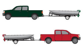 Boat Trailer and Pickup Stock Photos