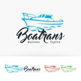 Boat trans vector logo design Royalty Free Stock Images
