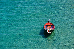 Boat on a transparent Sea Royalty Free Stock Images