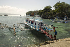Boat transport on Boracay island Stock Image