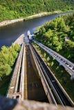 Boat transport elevator on Orlik dam, Czech republic. Royalty Free Stock Photo