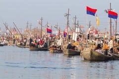 Boat transportation at the Kumbha Mela, India. Stock Image