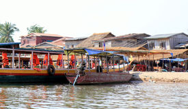 Boat. Transportation for the locals Royalty Free Stock Image
