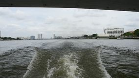 Boat travel on the Chao Phraya river stock video