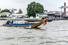 Boat travel on the Chao Phraya river Royalty Free Stock Photos