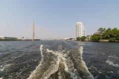 Boat travel on the Chao Phraya river Royalty Free Stock Photo