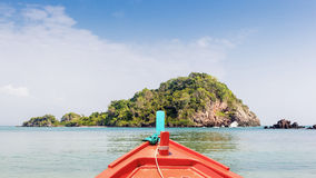 Boat travel at Island on summer Stock Image