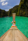 Boat travel at Phi phi islands. In the sunny day, That a good idea to meet sea sand sun . Phi phi islands waiting for you Stock Photos