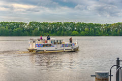 Boat travel on the river. Royalty Free Stock Photo