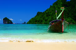 Boat of travel in of thailand Royalty Free Stock Image