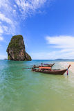 Boat for travle with railay island Stock Photo