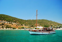 Boat trip. Around Kusadasi, Aydin province, Turkey stock photos