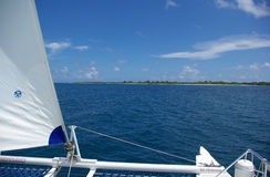 Boat Trip. To beautiful sunny Icacos island in Puerto Rico Stock Images