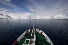 Boat Trip in Antarctica Stock Photo