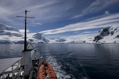 Boat trip in atarctica Stock Images