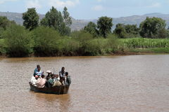 Boat trip on the Blue Nile in Ethiopia. 04 November 2012 Royalty Free Stock Image