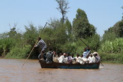 Boat trip on the Blue Nile in Ethiopia. 04 November 2012 Royalty Free Stock Photography