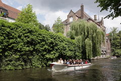 Boat trip in Bruges Stock Photo